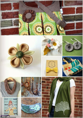 green with indie craft samples