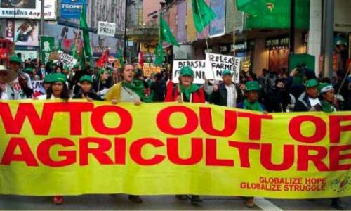 via campesina march hong kong 2005