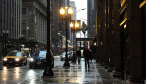 downtown chicago sidewalk