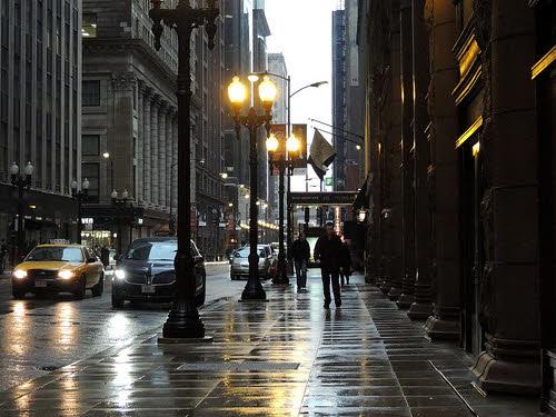 downtown chicago sidewalk