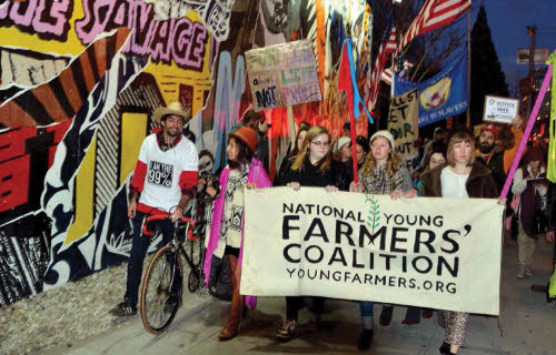 national young farmers coalition marching