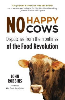 cover of john robbins' no happy cows