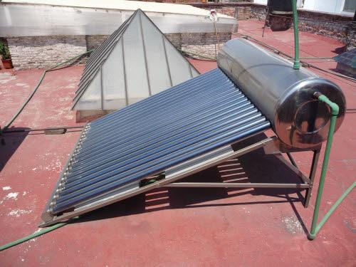 solar hot water system at el patio 77