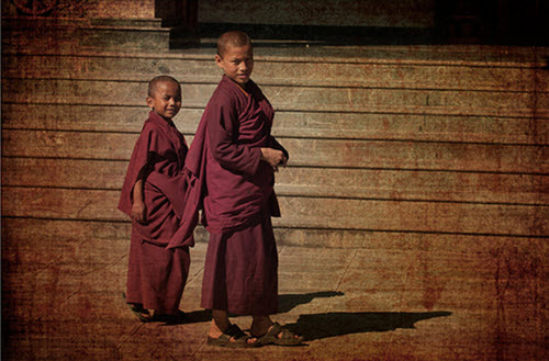 buddhist monks children