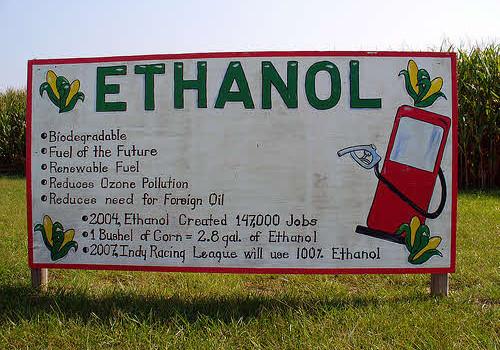 corn ethanol sign