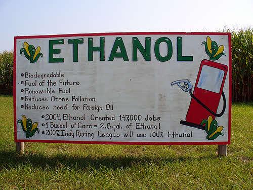 sign promoting corn ethanol