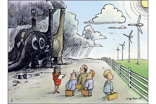 dirty energy vs clean energy cartoon