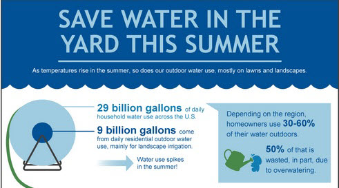 how to save water infographic