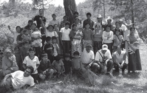 COPINH members on a piece of their ancestral land in Honduras to which they had just won title