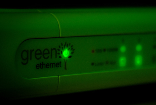 green internet router