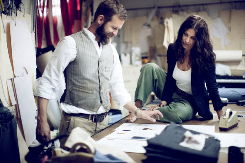 designers from imogene+willie at work