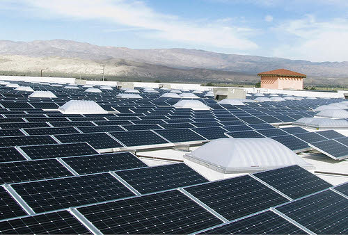 rooftop solar panels on a california walmart