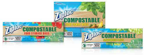 ziploc compostable plastic bags