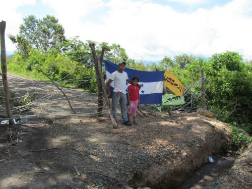 COPINH blockade in rio blanco honduras