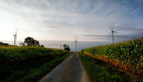 wind turbines farmland