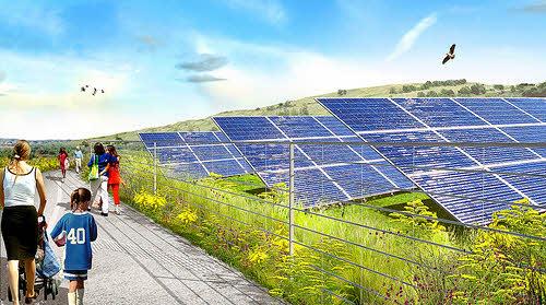 freshkills park solar array artist rendering