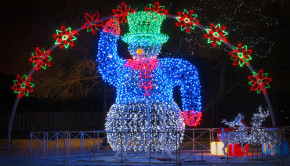 led holiday lights snowman
