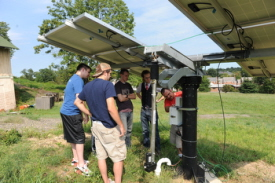 Engineering students install solar panels at DC Franciscan monastery