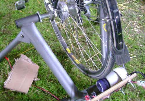 simple pedal power set-up