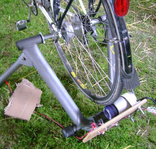 simple pedal power set-up