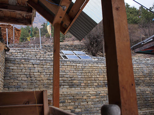 solar panels on a monastery