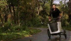 tilt action cargo bike