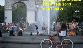 2013 heat wave washington square new york city
