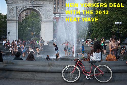 2013 heat wave in washington square new york city