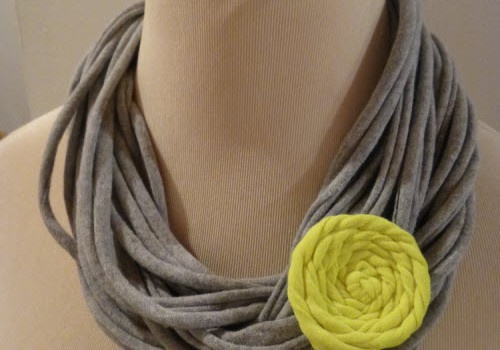 upcycled t-shirt rosette