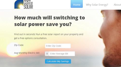 cost of solar solar calculator
