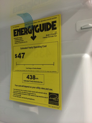 energy star yellow label