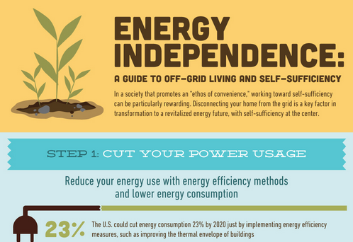 self-sufficient lifestyle infographic featured