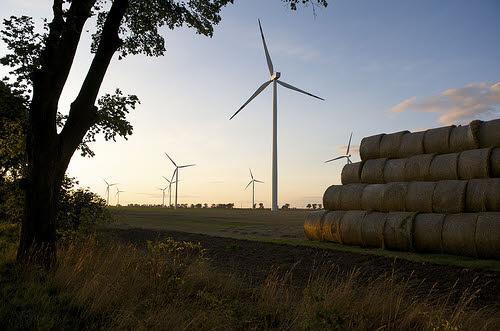 european wind power - a wind farm in denmark
