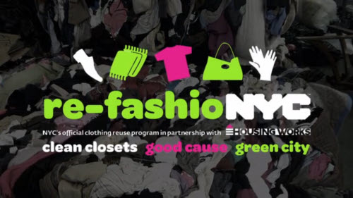 logo for textile recycling program re-fashionyc