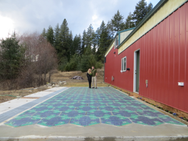 one of 2014's sustainable innovations - a solar roadway prototype