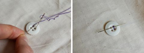 sewing a button 2