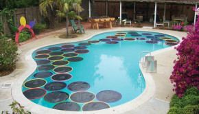 diy pool heater floating lily pad