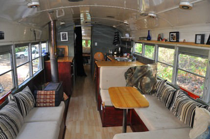 a bus house the upcycled living space. Black Bedroom Furniture Sets. Home Design Ideas