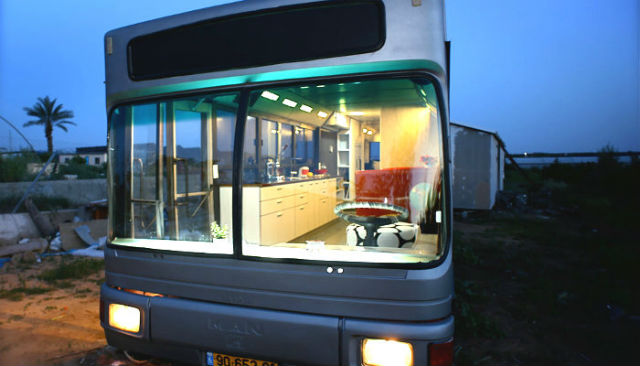 city bus house in israel