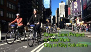 Safe Bicycling in the City: the Green Lane Project