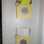cereal boxes turned into hanging wall folders