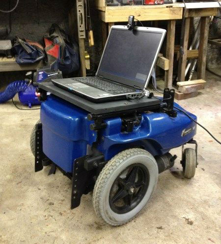 upcycled wheelchair robot powered by arduino
