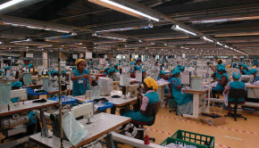 a large garment factory