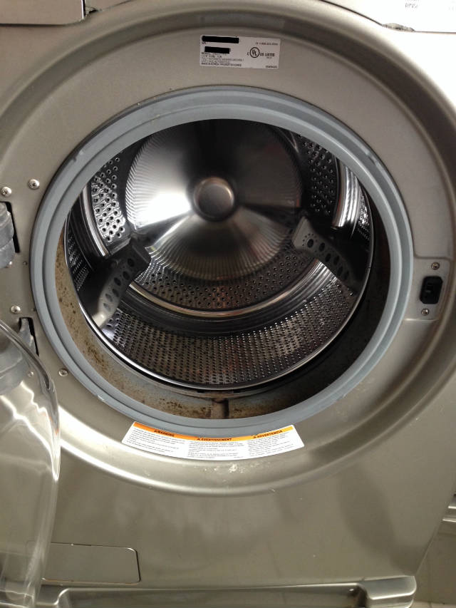 high efficiency washing machine with mold