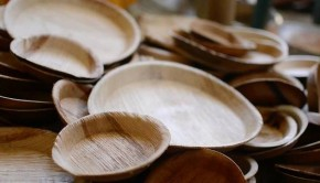 tamul plates made from palm leaves
