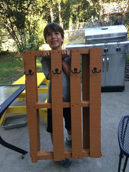 pallet coat rack complete