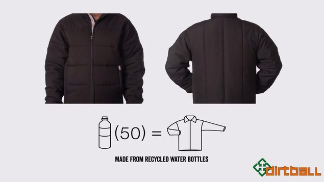 jacket made from 50 recycled pet plastic bottles