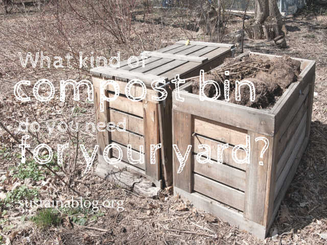 wooden compost bin