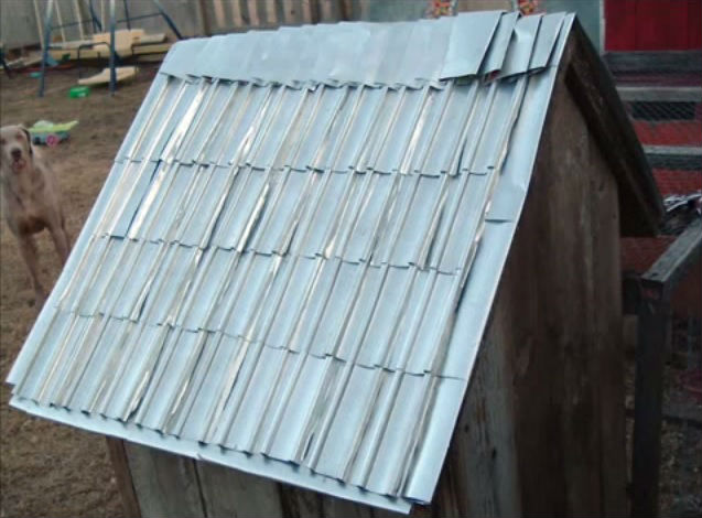 recycling cans into shingles