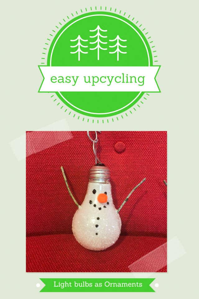 upcycling light bulbs into fun holiday ornaments